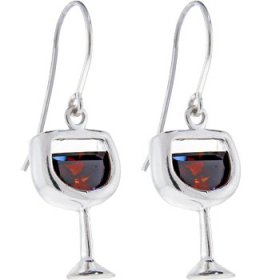Red wine earrings 2