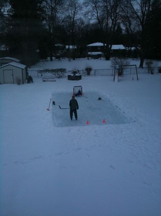 Backyard icerink